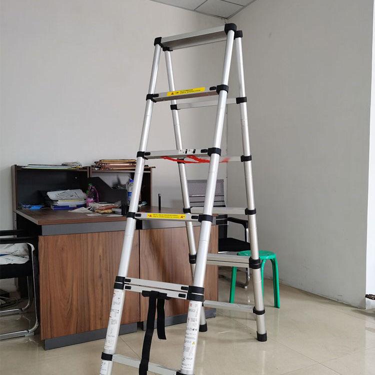 家用梯子伸缩梯子人字梯折叠梯升降梯铝合金楼梯加厚工程梯家用梯